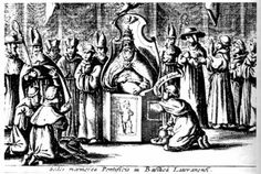 Testicle checking chair introduced after Pope Joan was discovered!