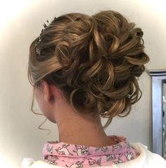 Curled Wedding Hair, Short Wedding Hair, Wedding Updo, Wedding Makeup, Curl Styles, Short Hair Styles, Wedding Hairstyles Half Up Half Down, Up Hairstyles, Updos