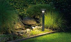 LED garden and pathway luminaires for the private sector · BEGA Outdoor Lighting Landscape, Landscape Lighting Design, Outdoor Decor, Lanscape Design, Solar Licht, Victorian Lamps, Bollard Lighting, Garden Lamps, Garden Bridge