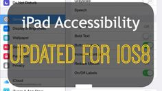 screenshot of accessibility features on the iPad