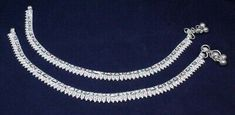 Silver Anklets, Silver Jewelry, Anklet Jewelry, Pearl Necklace, Pairs, Gemstones, Jewels, Diamond, Detail