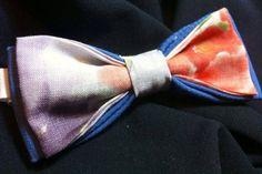 PAPILLON in Lino stampato e Cotone  Bow Tie Men di Idillyum