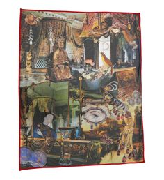 Luxury blanket that features the famous story The Nightingale by Hans Christian Andersen