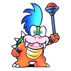 An official artwork of Larry Koopa from #SuperMarioBros3 on the #NES.   More info about the NES classic SMB title at http://www.superluigibros.com/super-mario-bros-3-nes