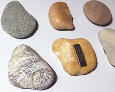 Beach pebbles & Polished stone fridge magnets