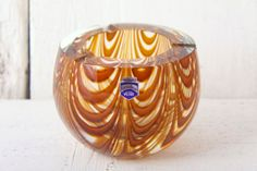 Vintage Murano Cenedese Art Glass Bowl Zebrati by afterglowretro, £45.00  $78