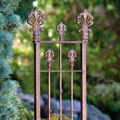 Take garden color and fragrance to beautiful new heights this ornate trellis inspires your plants to reach the top. Add the beauty of wrought iron to your garden, deck or patio. brbrliDimensions...