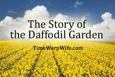 """The inspiring story of the famous daffodil garden, and how the beauty of the garden holds a lesson to be learned.     Gene Bauer planted the first 48 bulbs in 1958, describing her persistence by saying, """"One at a time, by one woman. Two hands, two feet and a body minus a brain.""""    A must read!"""