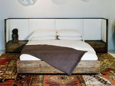 peroba wood bed vincent 1 / Environment Furniture
