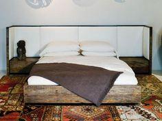 peroba wood bed vincent 1 / Environment Furniture