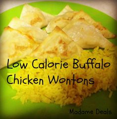 Low Calorie Buffalo Chicken Wontons #recipe