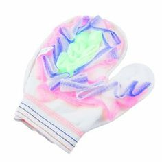 """Rosallini White Yellow Stripes Pattern Sponge Mesh Shower Bath Glove by Rosallini. $4.33. Package Content : 1 x Bath Glove. Net Weight : 33g. Product Name : Bath Glove;Dimension : 21 x 16.7cm / 8.3"""" x 6.6""""(L*W). Main Color : Yellow, White, Blue, Pink, Green. Open Width : 9cm / 3.5"""";Material : Nylon, Cotton. This bath glove is suitable for bathing, which is no harm to your skin.Sponge mesh on one side, glove style design for more comfortable to use.Refresh your blood and make..."""