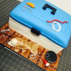 Tackle box cake Fishing Theme Cake, Tackle Box, Cake Stuff, Box Cake, Themed Cakes, First Birthdays, Theme Cakes, One Year Birthday, Boxed Cake
