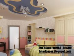 Best Creative Kids Room Ceilings Design Ideas, Cool False Ceiling Of  Plaster Board Part 33