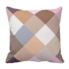 Pretty Provence Lavender Pixels Mosaic Pattern Throw Pillow - home gifts ideas decor special unique custom individual customized individualized Diy Pillows, Decorative Pillows, Throw Pillows, Provence Lavender, Pillow Patterns, Retro Gifts, Tartan Pattern, Elegant Styles, Retro Ideas