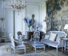 1000 images about paint color schemes french blue on for A french touch salon