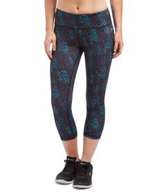 Look what I found on #zulily! Blue Coral Atomic Crop Leggings #zulilyfinds