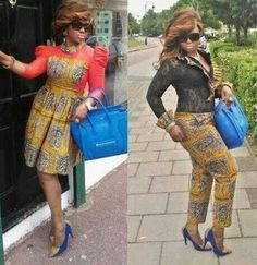 Which one do you prefer, the Ankara dress or the trousers?