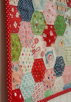hand pieced and quilted hexagons (by nanaCompany)