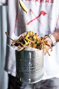 Skinny Greek feta fries with roasted garlic saffron aioli. Pinning for the sauce!