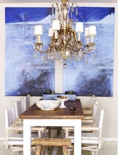 Serene dining room.