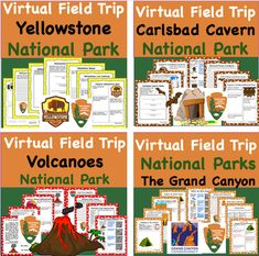 Discount Bundle - Virtual Field Trip Park to the the National Parks 8 Trips for the Price of 5 Carlsbad Caverns National Park, Volcano National Park, National Parks, Virtual Field Trips, Park Service, Geology, Earth Science, State Parks