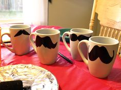 Mug-staches, with printable mustache templates.  I don't know why, but I think these are hilarious.