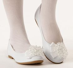 Anna First Communion White Shoe for 1st Communion or Easter from CatholicSupply.com