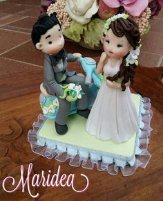 Cake topper polymer clay