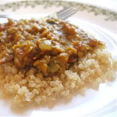 Coconut-Curry Lentil Stew Served over Quinoa Recipe on Yummly. @yummly #recipe