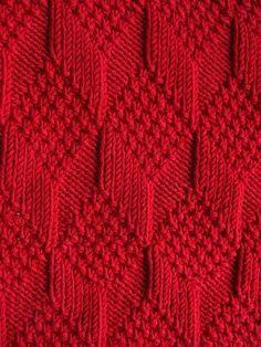 Moss Diamond and Lozenge Pattern - Treasury of Knitting Patterns