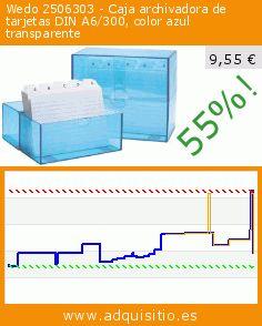Wedo 2506303 - Caja archivadora de tarjetas DIN A6/300, color azul transparente (Productos de oficina). Baja 55%! Precio actual 9,55 €, el precio anterior fue de 21,24 €. http://www.adquisitio.es/fabricado-marca/wedo-2506303-caja