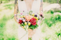 Andrea's jewel toned bouquet