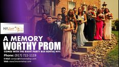 A Memory Worthy Prom Comes with the Right Party Bus Rental NYC. The times in life that we remember always, like prom, deserve special transportation. Party Bus Rental, We Remember, Bridesmaid Dresses, Wedding Dresses, Limo, How To Memorize Things, Nyc, Memories, Transportation