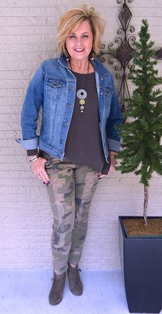 50 IS NOT OLD | A DENIM JACKET IS CLASSIC | Denim after 40 | Camo | Fashion over 40 for the everyday woman