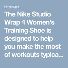 The Nike Studio Wrap 4 Women's Training Shoe is designed to help you make the most of workouts typically done in bare feet, including yoga, dance, barre and Pilates.