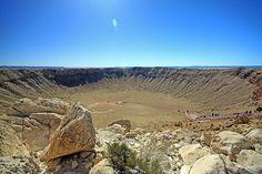 Barringer Meteor Crater, between Flagstaff & Winslow on I-40, Arizona, AZ