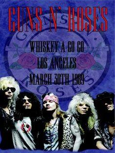 Guns 'n' Roses - Whiskey a Go Go - L.A. 1989 - Mini Print