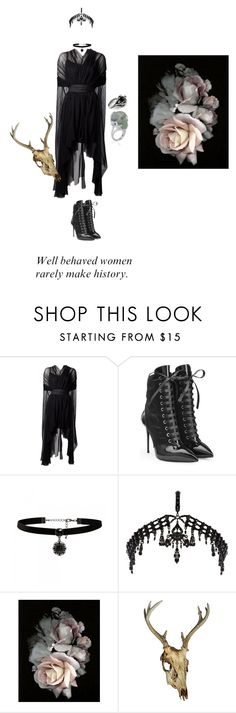 """""""Something wicked this way comes."""" by spectre11 ❤ liked on Polyvore featuring Louiza Babouryan, Giuseppe Zanotti, Forever New and River Island"""