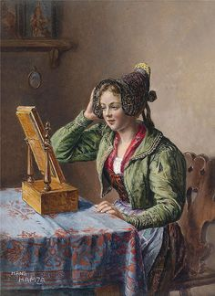 Hans Hamza - Young Girl by the Mirror by irinaraquel on Flickr