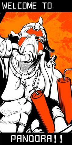 「6人目のハンター」/「Gax」のイラスト [pixiv] Krieg Borderlands, Borderlands Tattoo, Borderlands Series, Tales From The Borderlands, I Love Games, Video Game Art, Cool Posters, Videogames, Fantasy Art