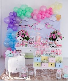 Babyshower, Happy Birthday Parties, Candy Colors, Birthday Decorations, Alice, Cake, Party, Kids, Home Decor