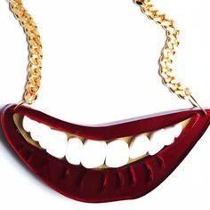Cheese...Smile necklace - Patricia Nicolás - Jewellery designer London