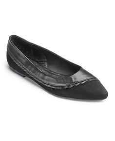 """""""Sole Diva"""" Sole Diva Zipper Flats EEE Fit at Simply Be"""