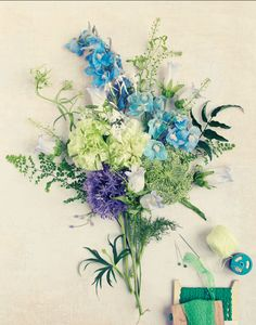 pretty blues & greens, sweet paul magazine.