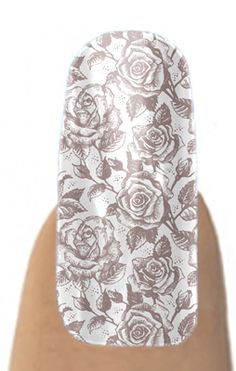 Taupe Vintage Rose nail shields - win these or the shields of your choice on Horsesandheels.com this week!