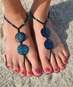 Blue Bloozie Barefoot Sandal; maybe a cool idea?