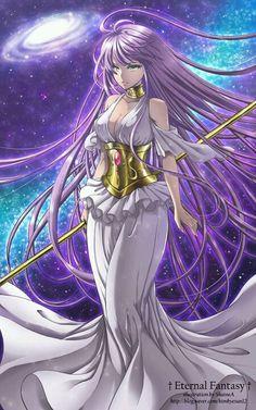 Athena Sasha Saint Seiya Lost canvas                                                                                                                                                                                 Más