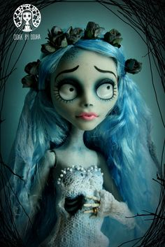 Diuha — Few weeks ago I made another one amazing project! Monster High Repaint, Monster High Dolls, Ooak Dolls, Art Dolls, Corpse Bride Doll, Tim Burton Corpse Bride, Crazy Toys, Monster High Custom, Polymer Clay Dolls