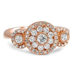 A romantic and dazzling estate ring.